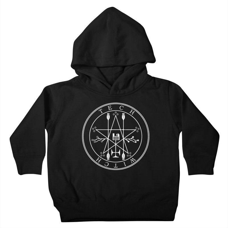 TECH WITCH (wht) Kids Toddler Pullover Hoody by VOID MERCH