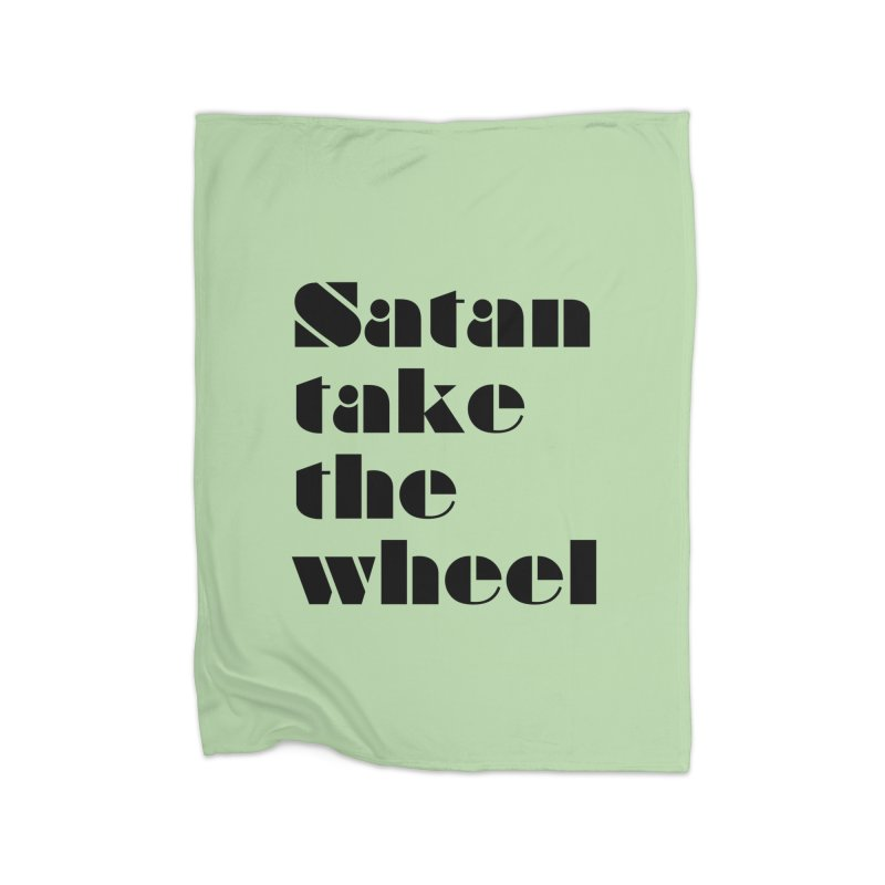 SATAN TAKE THE WHEEL (blk) Home Fleece Blanket Blanket by VOID MERCH