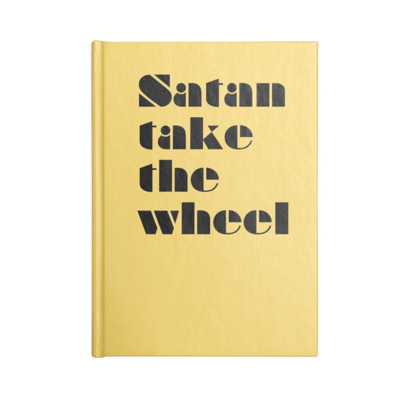 SATAN TAKE THE WHEEL (blk) Accessories Notebook by VOID MERCH