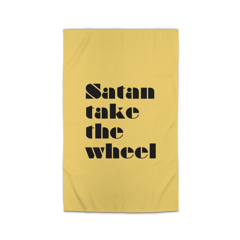 SATAN TAKE THE WHEEL (blk) Home Rug by VOID MERCH