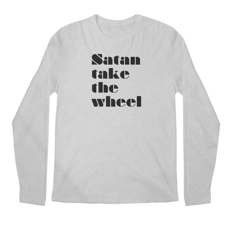 SATAN TAKE THE WHEEL (blk) Men's Regular Longsleeve T-Shirt by VOID MERCH