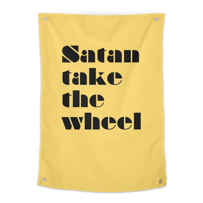 SATAN TAKE THE WHEEL (blk) Home Tapestry by VOID MERCH