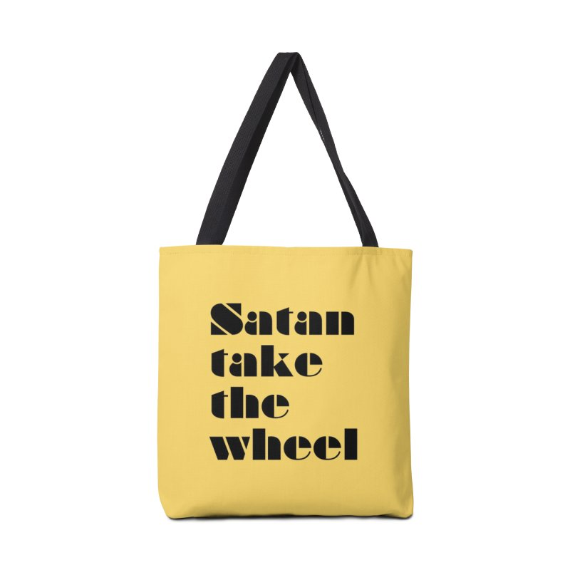 SATAN TAKE THE WHEEL (blk) Accessories Tote Bag Bag by VOID MERCH