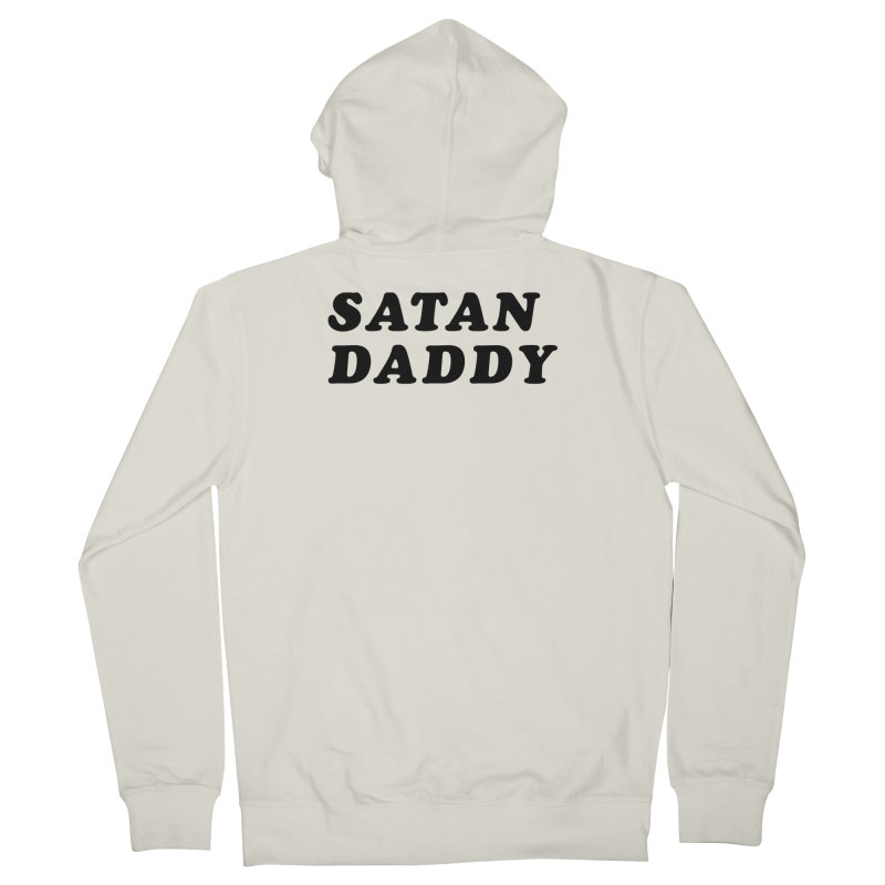 SATAN DADDY (blk) Men's French Terry Zip-Up Hoody by VOID MERCH
