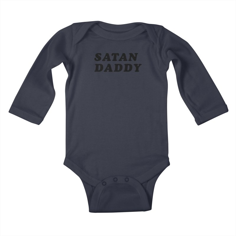 SATAN DADDY (blk) Kids Baby Longsleeve Bodysuit by VOID MERCH