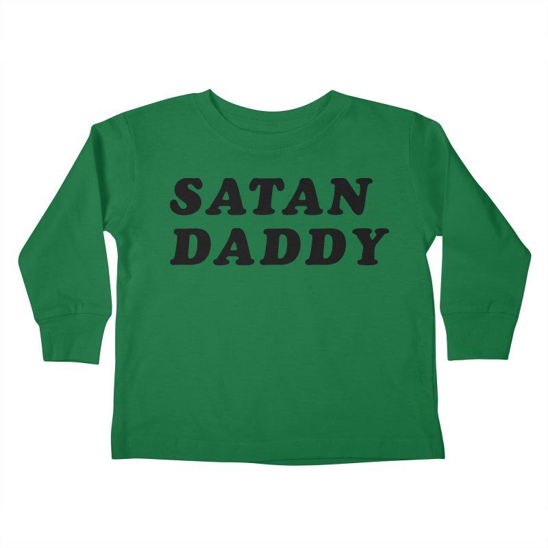 SATAN DADDY (blk) Kids Toddler Longsleeve T-Shirt by VOID MERCH