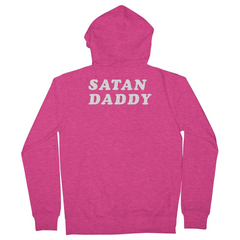 Satan Daddy (wht) Women's French Terry Zip-Up Hoody by VOID MERCH