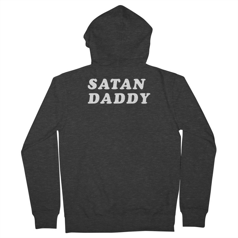 Satan Daddy (wht) Men's French Terry Zip-Up Hoody by VOID MERCH