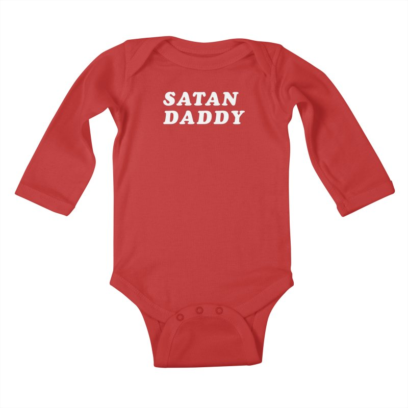 Satan Daddy (wht) Kids Baby Longsleeve Bodysuit by VOID MERCH