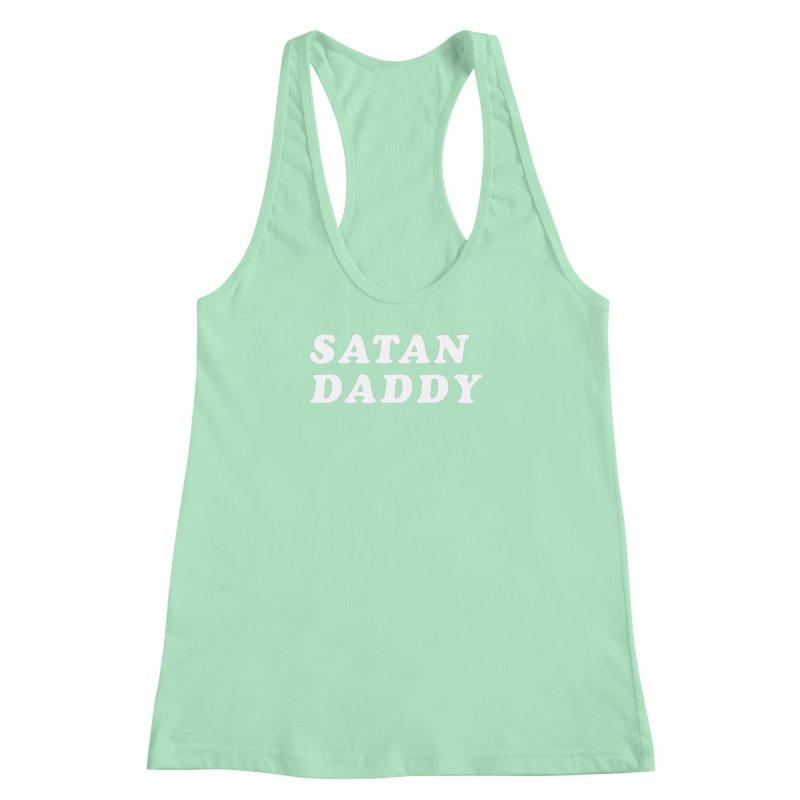 Satan Daddy (wht) Women's Racerback Tank by VOID MERCH