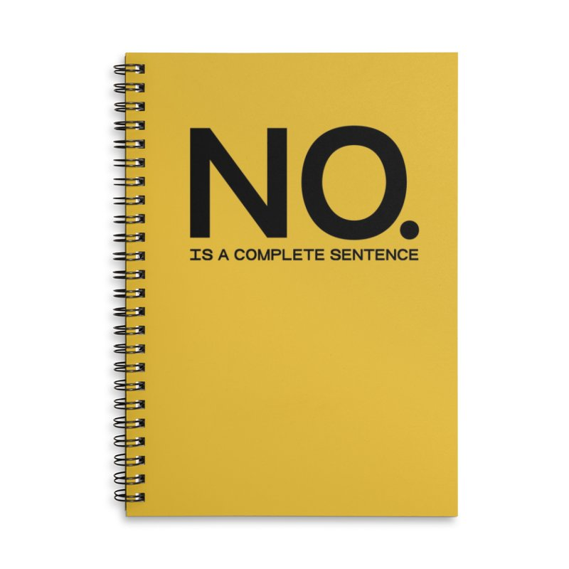 NO. Is a complete sentence.(blk lrg) Accessories Lined Spiral Notebook by VOID MERCH