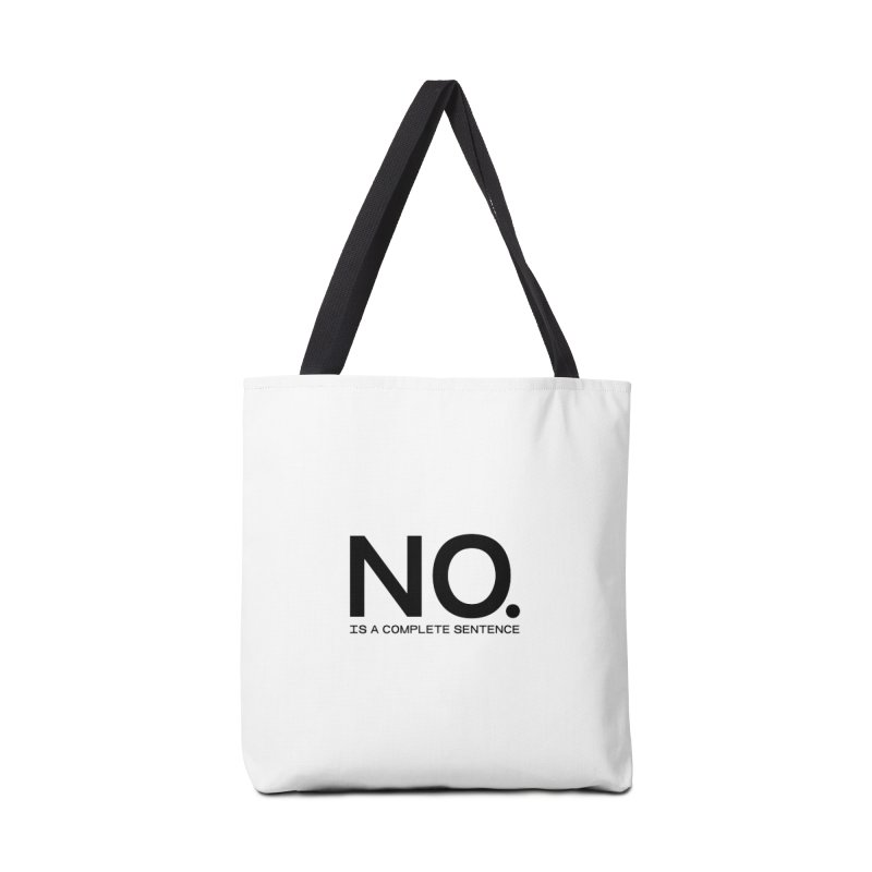 NO. Is a complete sentence.(blk lrg) Accessories Tote Bag Bag by VOID MERCH