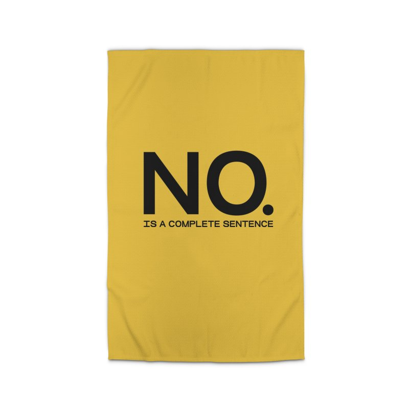 NO. Is a complete sentence.(blk lrg) Home Rug by VOID MERCH