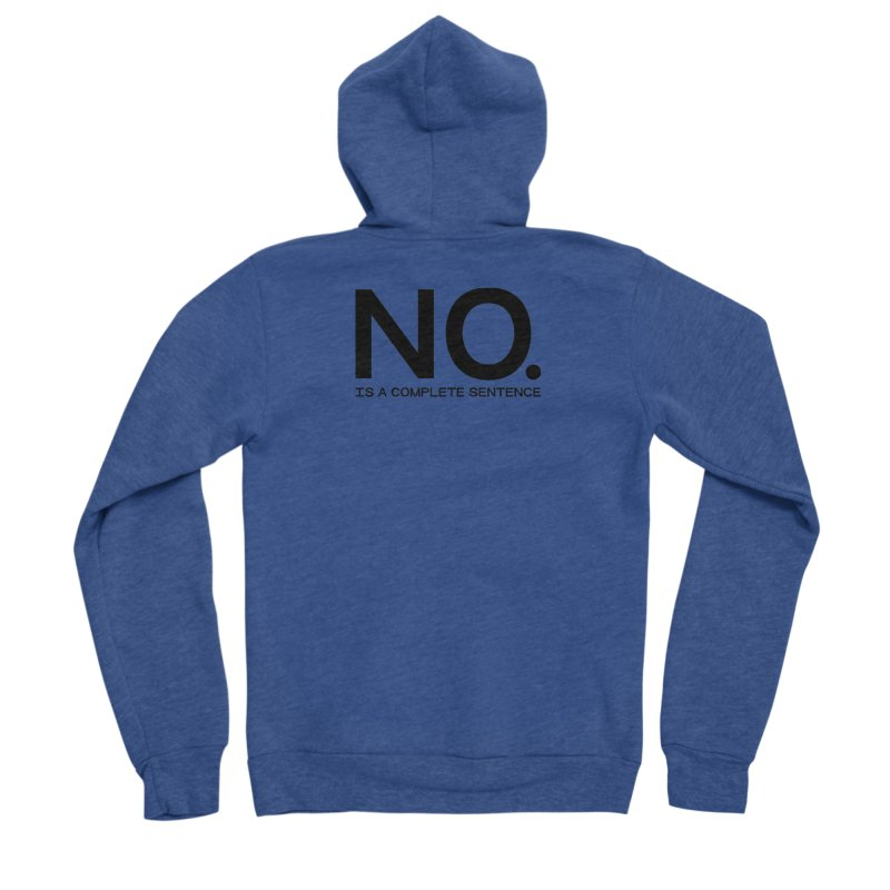 NO. Is a complete sentence.(blk lrg) Men's Sponge Fleece Zip-Up Hoody by VOID MERCH
