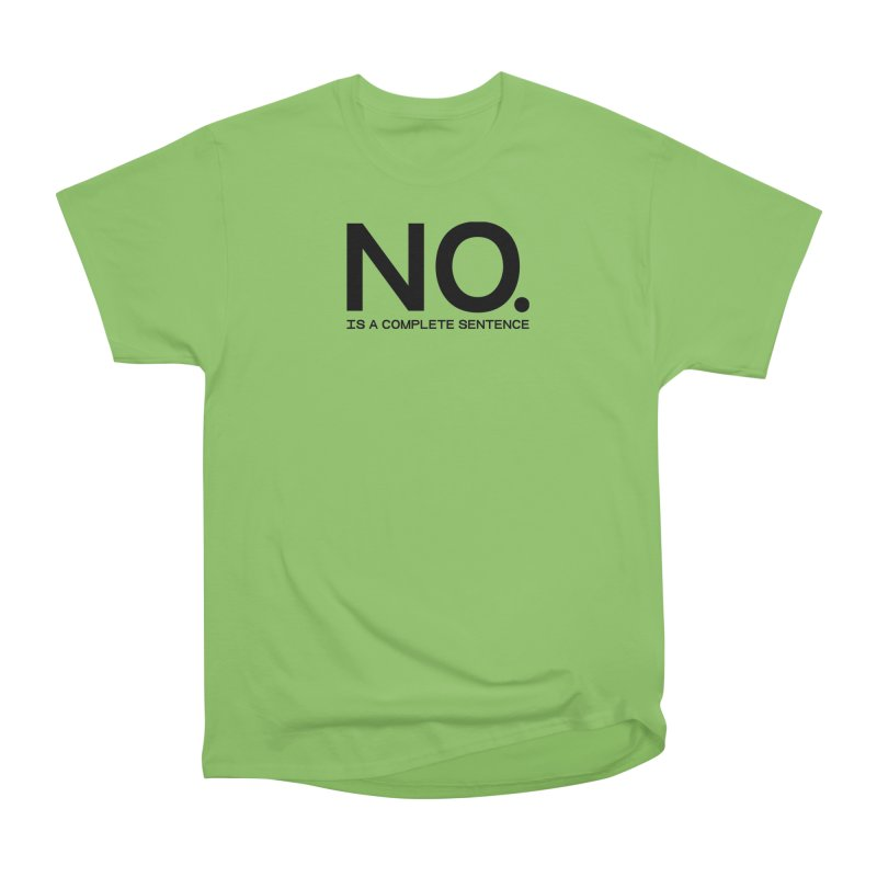 NO. Is a complete sentence.(blk lrg) Men's Heavyweight T-Shirt by VOID MERCH