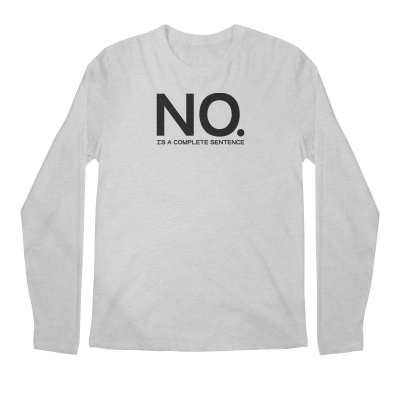 NO. Is a complete sentence.(blk lrg) Men's Regular Longsleeve T-Shirt by VOID MERCH