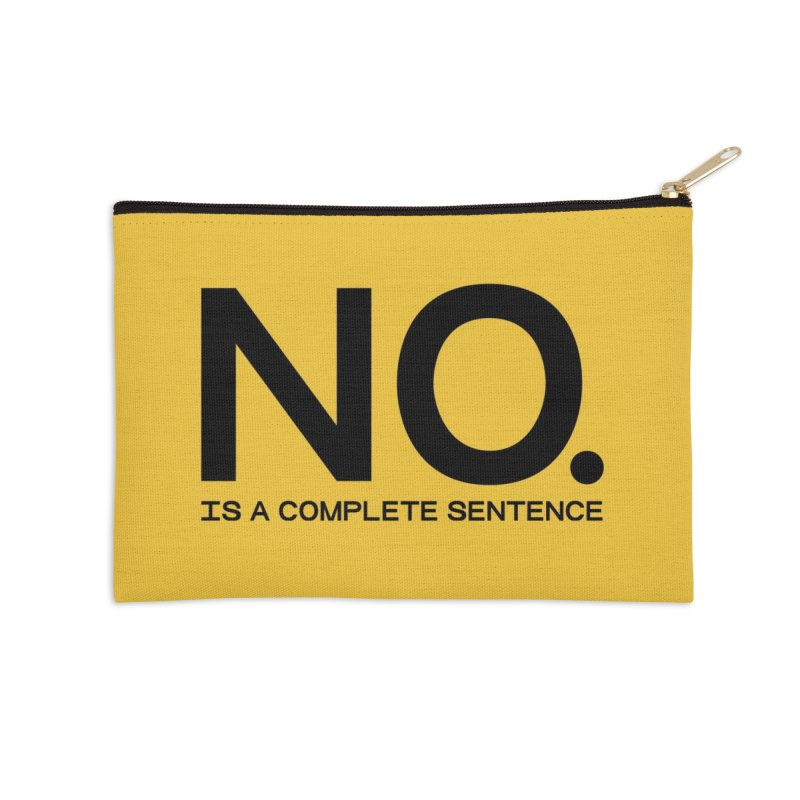 NO. Is a complete sentence.(blk lrg) Accessories Zip Pouch by VOID MERCH