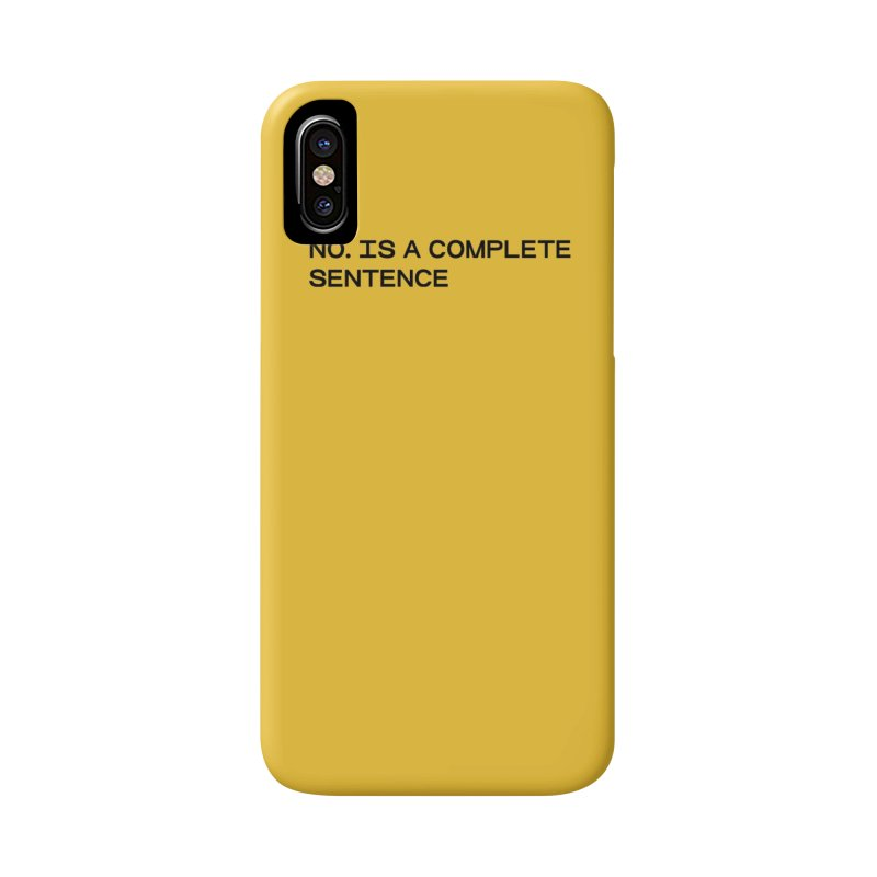 NO. Is a complete sentence (blk) Accessories Phone Case by VOID MERCH