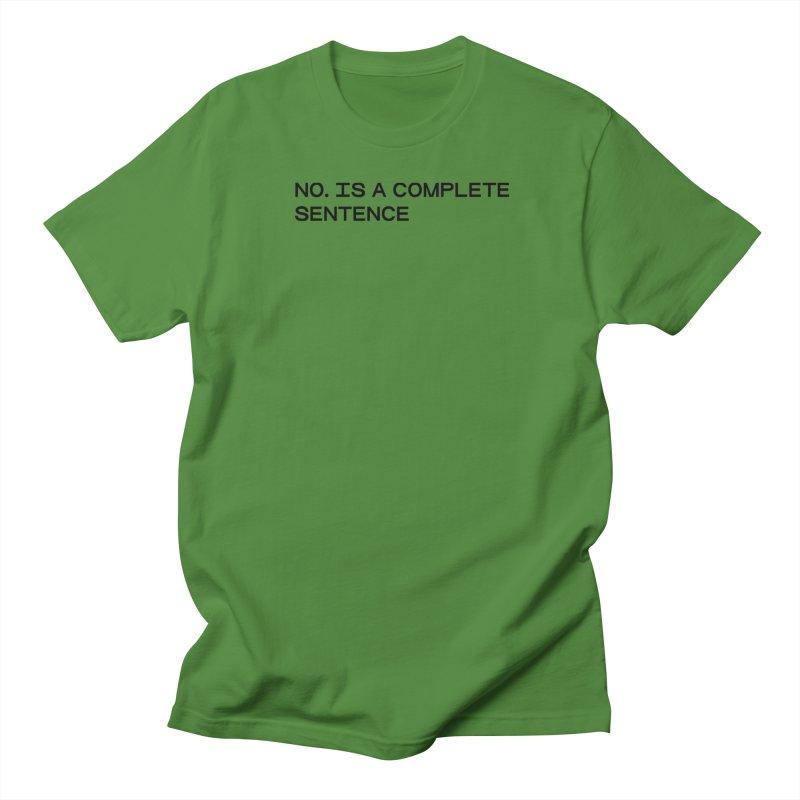 NO. Is a complete sentence (blk) Men's Regular T-Shirt by VOID MERCH
