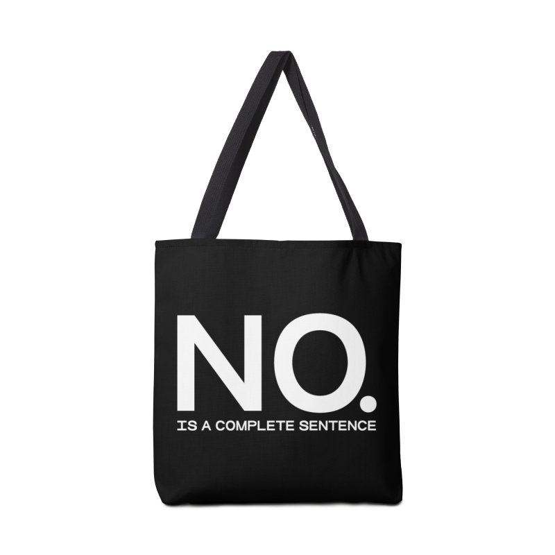 NO. Is a complete sentence.(wht lrg) Accessories Tote Bag Bag by VOID MERCH