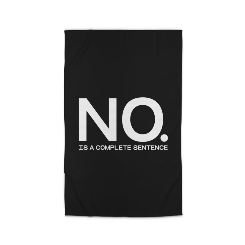 NO. Is a complete sentence.(wht lrg) Home Rug by VOID MERCH