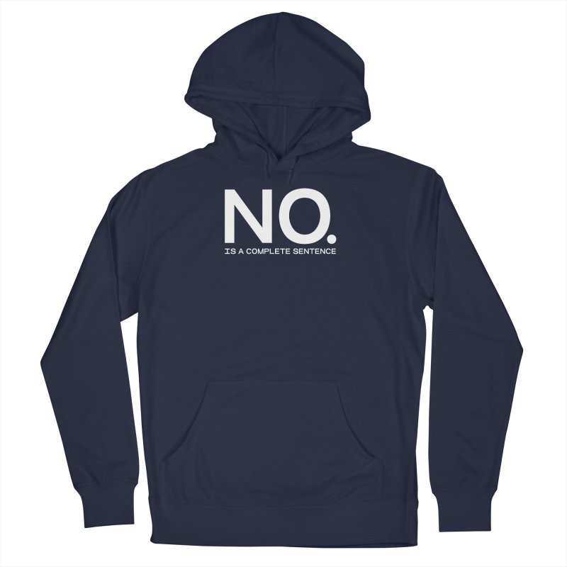 NO. Is a complete sentence.(wht lrg) Men's Pullover Hoody by VOID MERCH