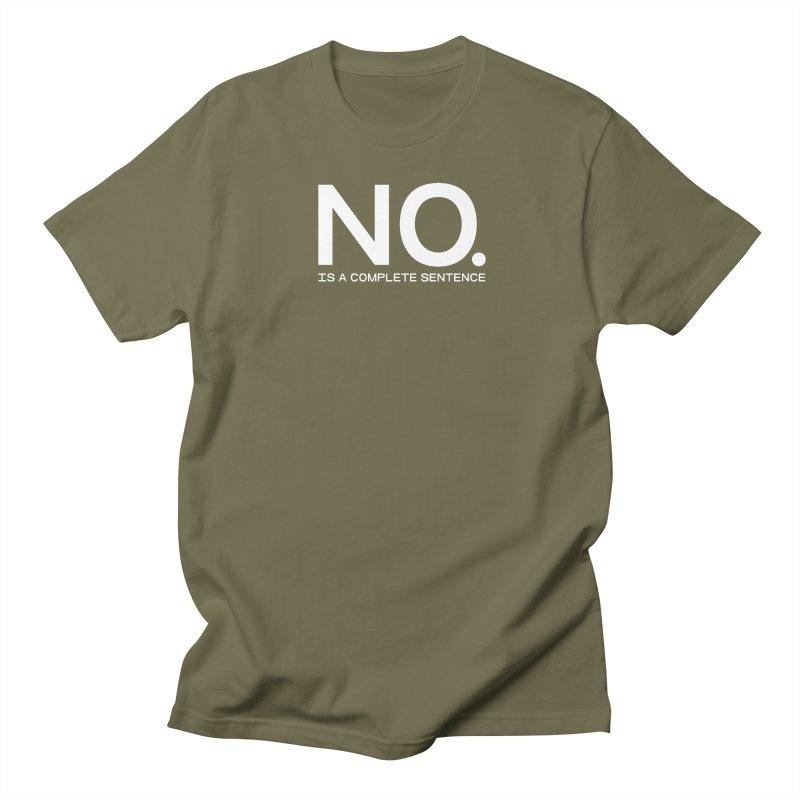 NO. Is a complete sentence.(wht lrg) Men's T-Shirt by VOID MERCH