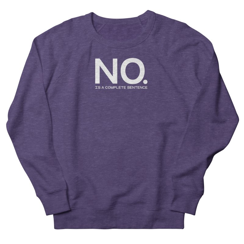 NO. Is a complete sentence.(wht lrg) Men's French Terry Sweatshirt by VOID MERCH