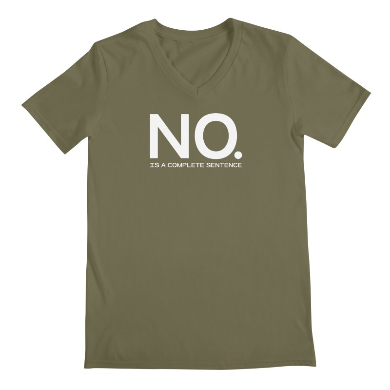 NO. Is a complete sentence.(wht lrg) Men's Regular V-Neck by VOID MERCH