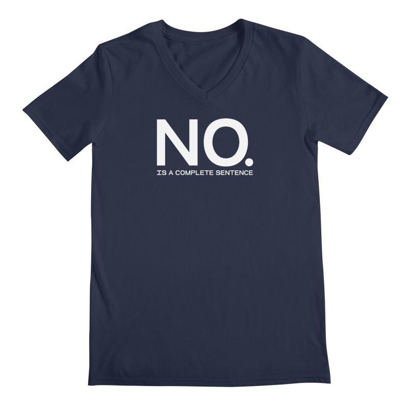 NO. Is a complete sentence.(wht lrg) Men's Regular V-Neck by VOID MERCH