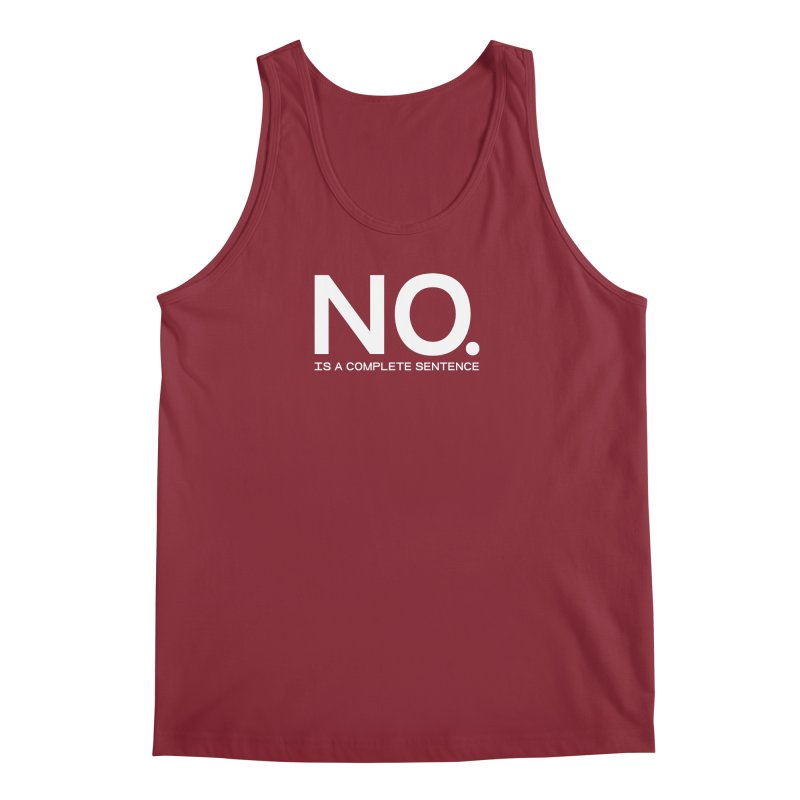 NO. Is a complete sentence.(wht lrg) Men's Tank by VOID MERCH