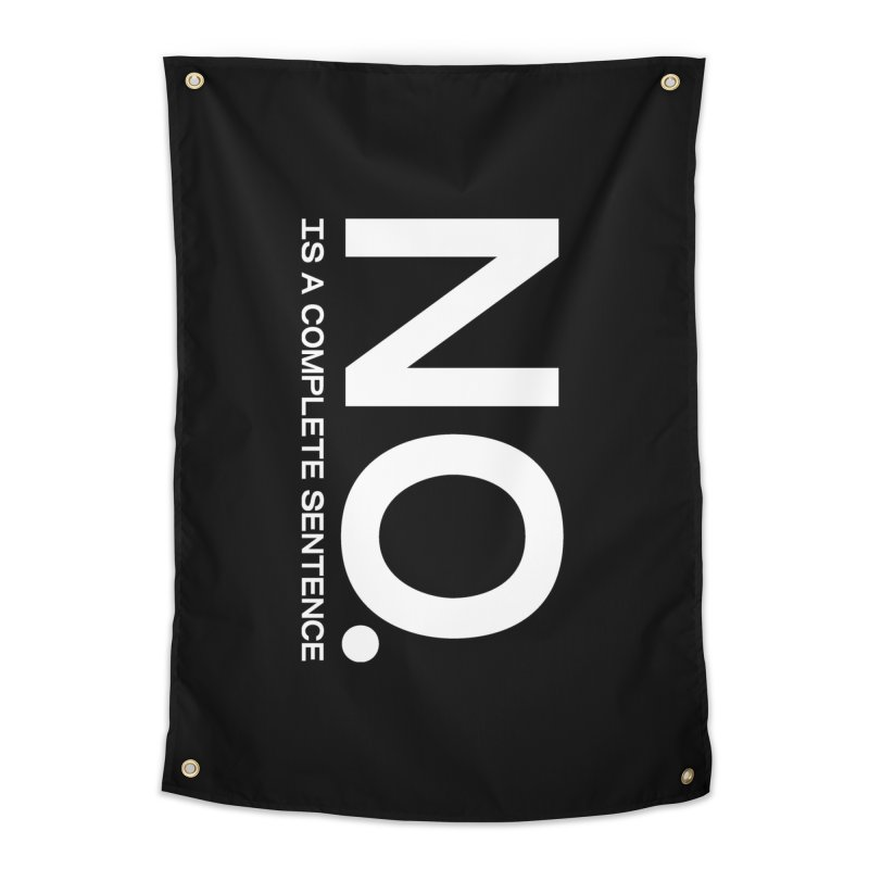 NO. Is a complete sentence.(wht lrg) Home Tapestry by VOID MERCH