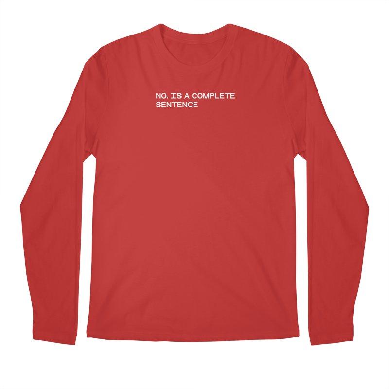 NO. Is a complete sentence (wht) Men's Regular Longsleeve T-Shirt by VOID MERCH