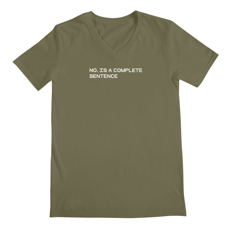 NO. Is a complete sentence (wht) Men's Regular V-Neck by VOID MERCH