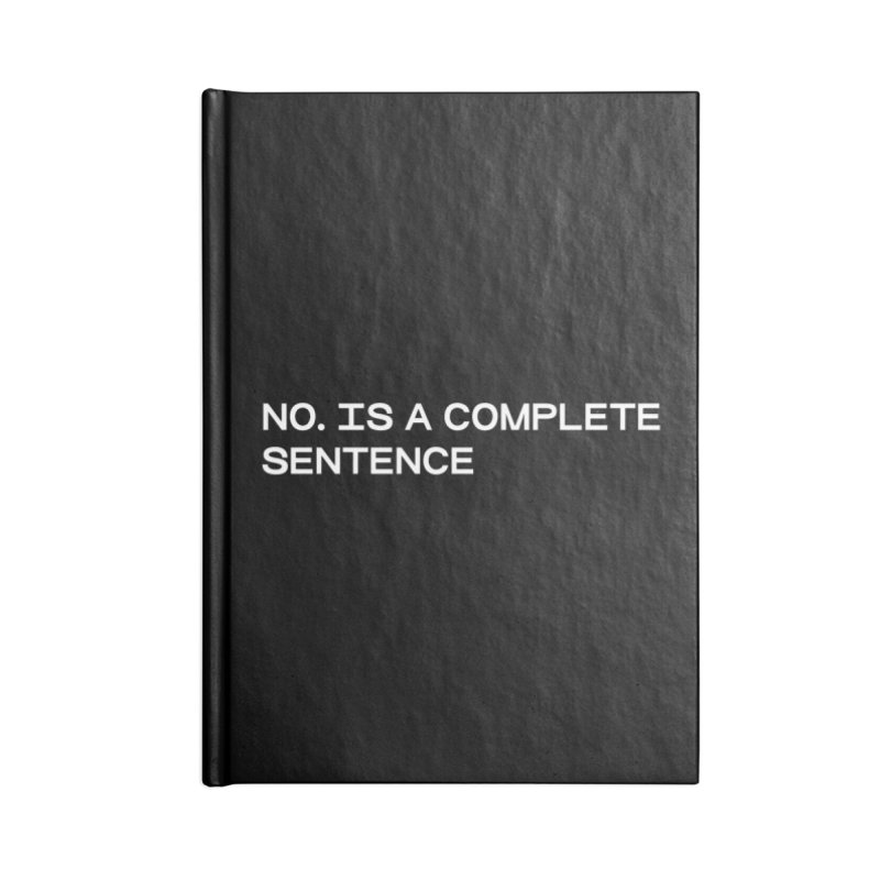 NO. Is a complete sentence (wht) Accessories Lined Journal Notebook by VOID MERCH