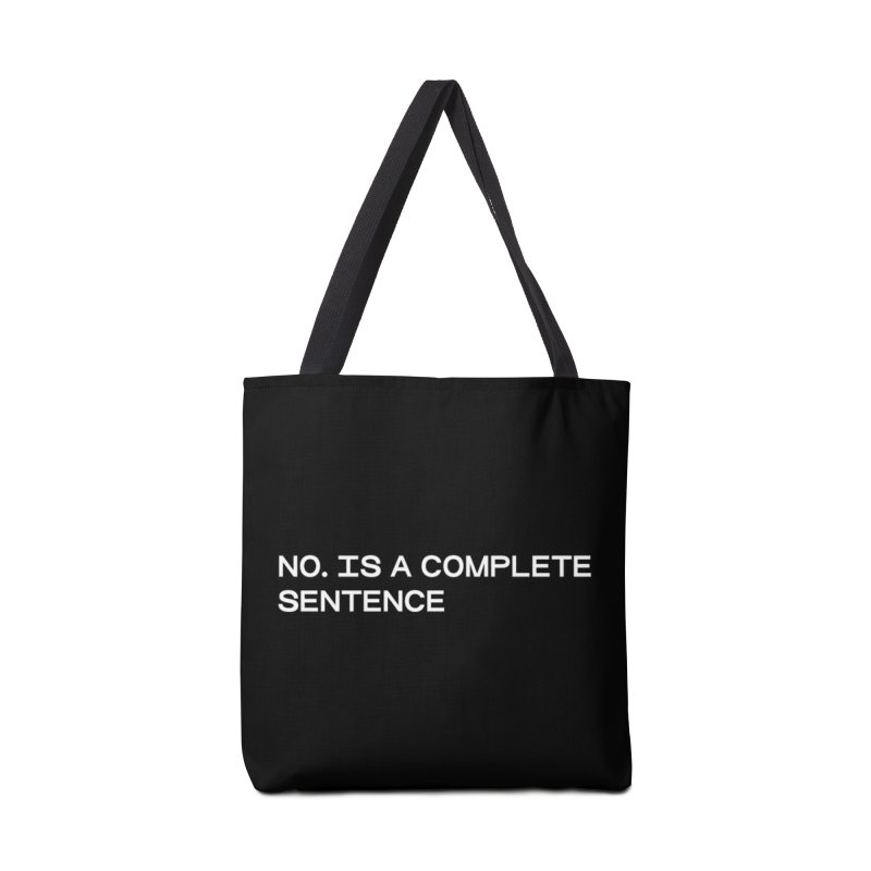 NO. Is a complete sentence (wht) Accessories Tote Bag Bag by VOID MERCH