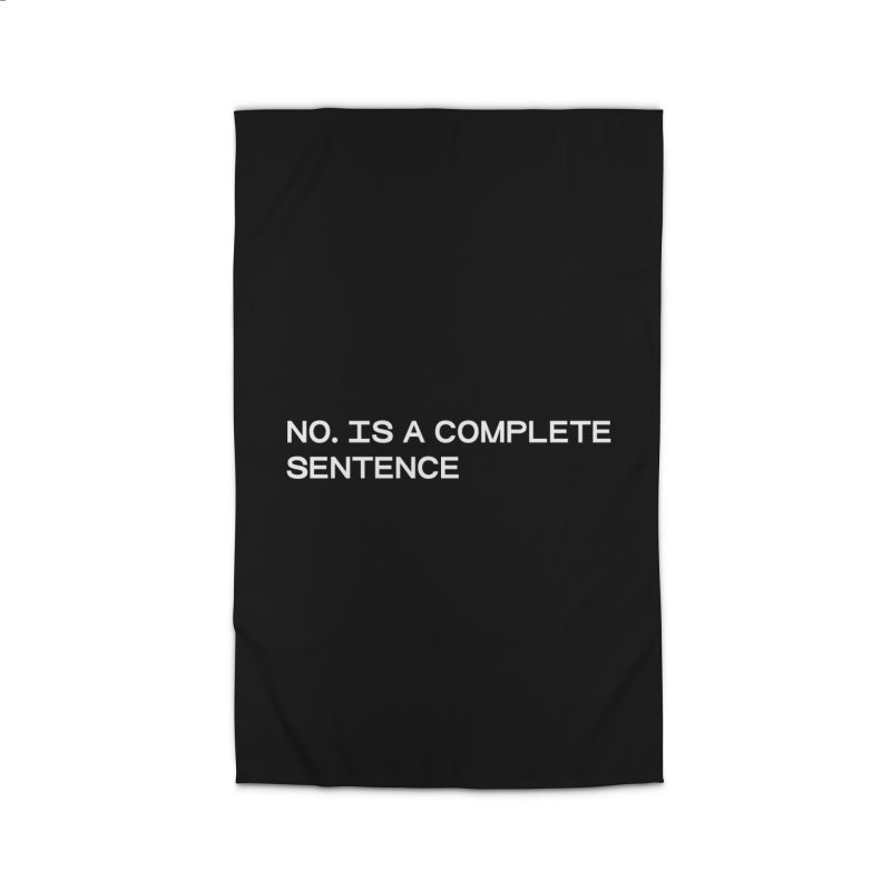 NO. Is a complete sentence (wht) Home Rug by VOID MERCH