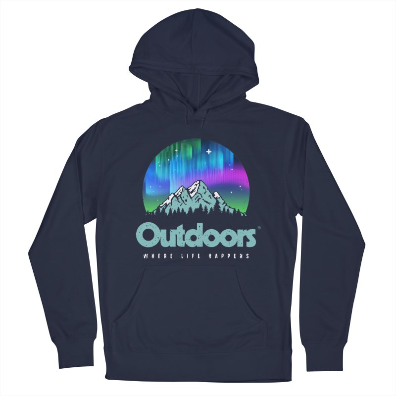 Outdoors Men's French Terry Pullover Hoody by Vó Maria's Artist Shop