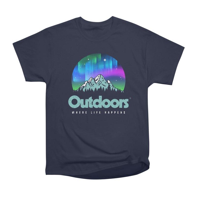 Outdoors Men's Heavyweight T-Shirt by Vó Maria's Artist Shop