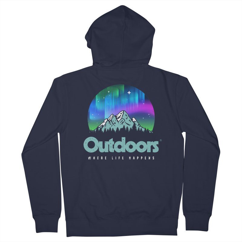 Outdoors Women's French Terry Zip-Up Hoody by Vó Maria's Artist Shop