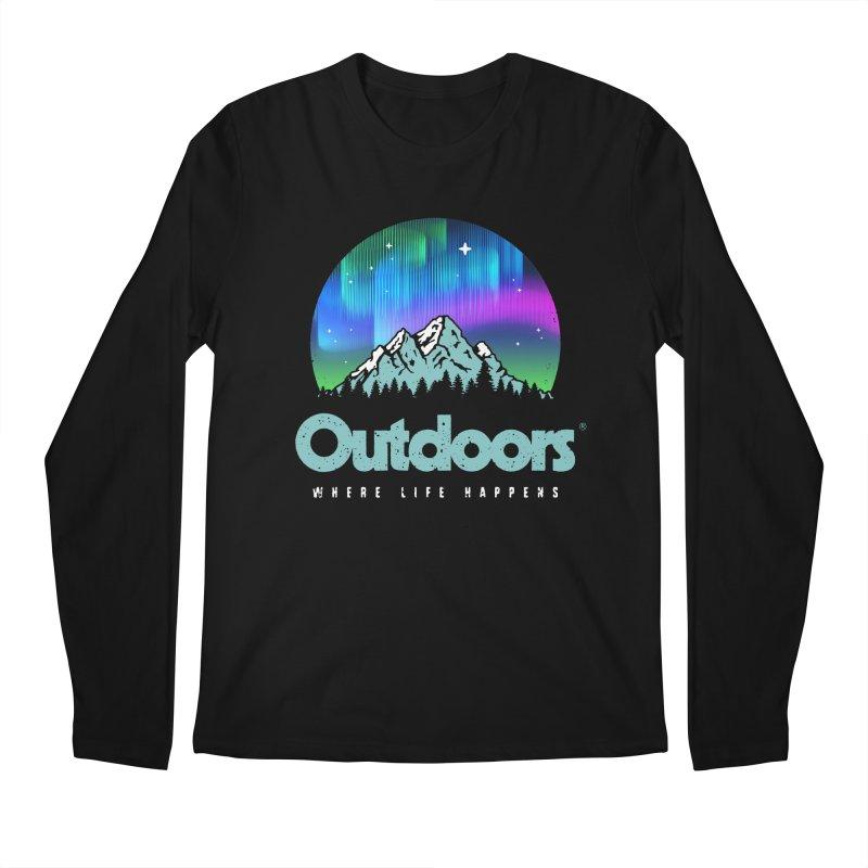 Outdoors Men's Regular Longsleeve T-Shirt by Vó Maria's Artist Shop