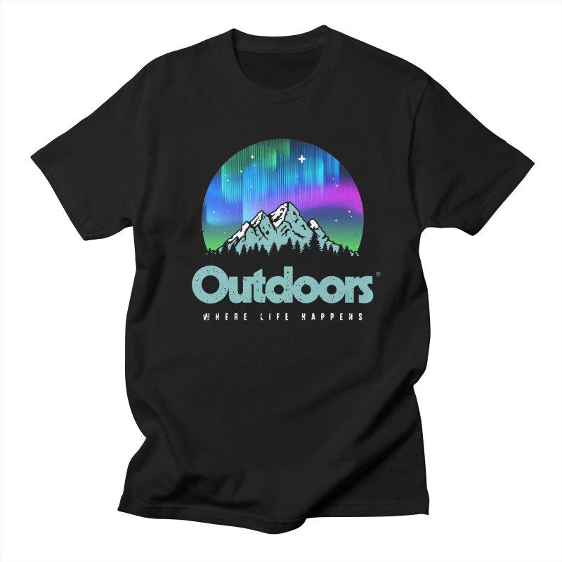 Outdoors Men's Regular T-Shirt by Vó Maria's Artist Shop