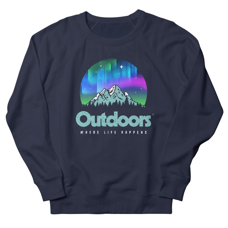 Outdoors Men's French Terry Sweatshirt by Vó Maria's Artist Shop