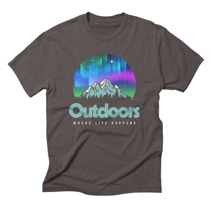 Outdoors Men's Triblend T-Shirt by Vó Maria's Artist Shop
