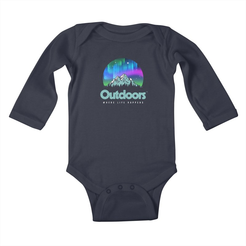 Outdoors Kids Baby Longsleeve Bodysuit by Vó Maria's Artist Shop