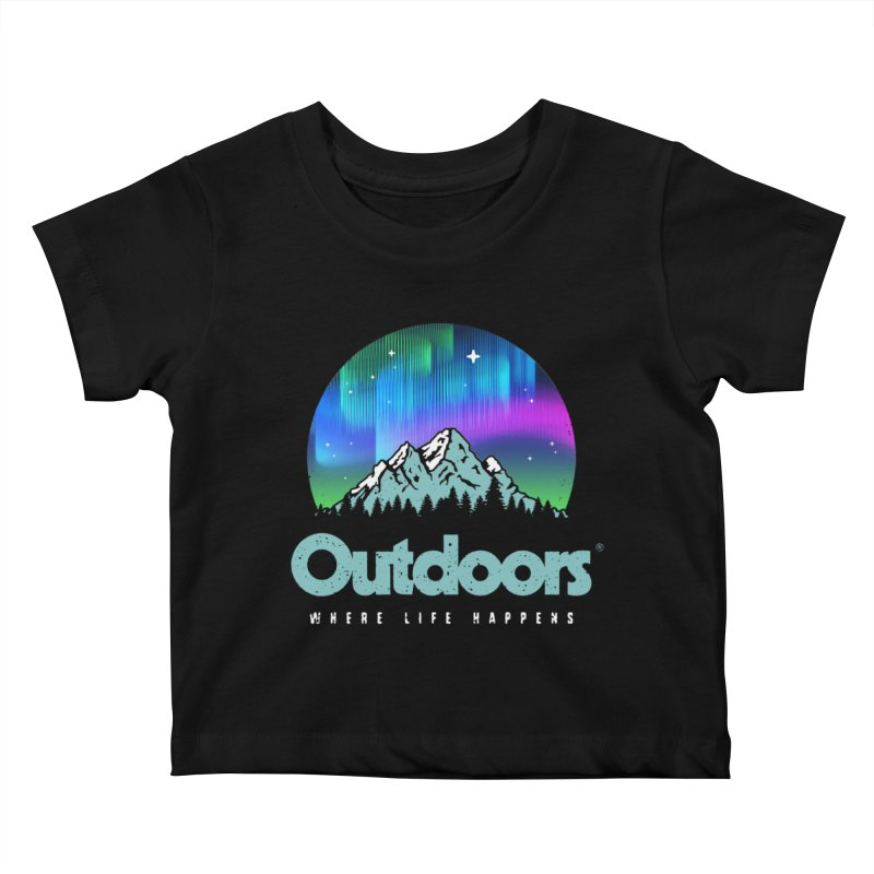 Outdoors Kids Baby T-Shirt by Vó Maria's Artist Shop