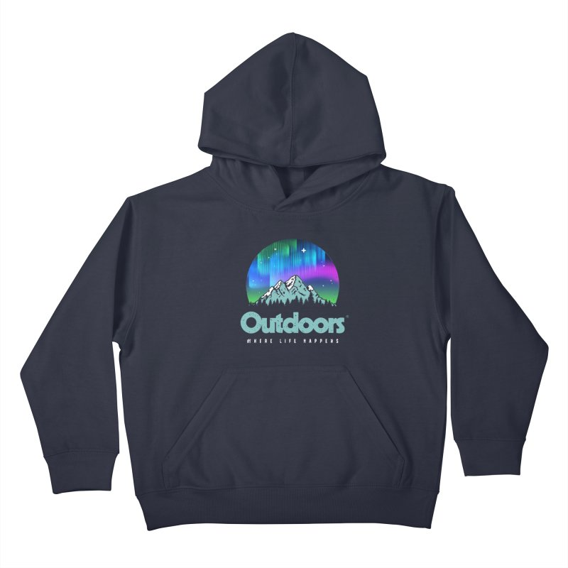 Outdoors Kids Pullover Hoody by Vó Maria's Artist Shop