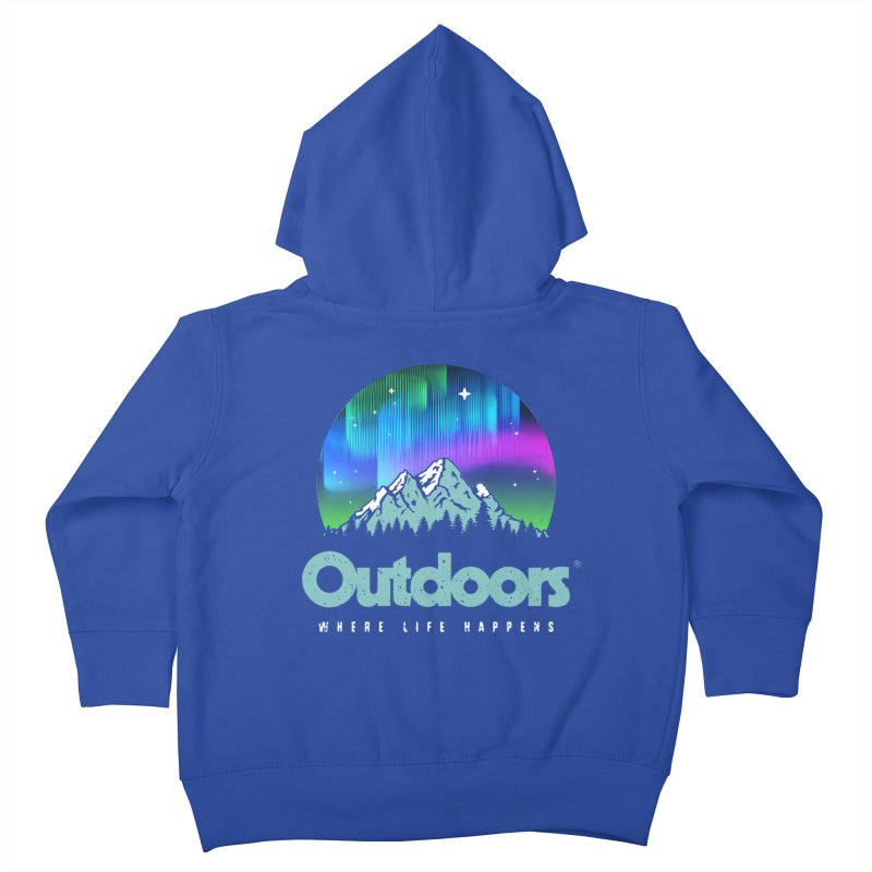 Outdoors Kids Toddler Zip-Up Hoody by Vó Maria's Artist Shop