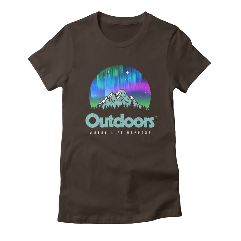Outdoors Women's Fitted T-Shirt by Vó Maria's Artist Shop