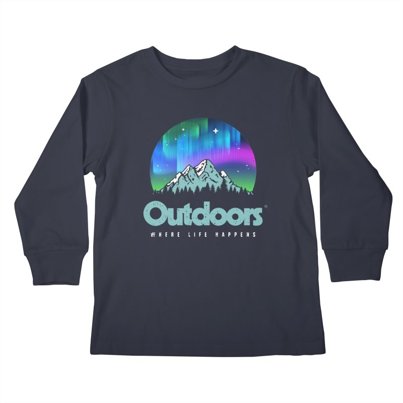 Outdoors Kids Longsleeve T-Shirt by Vó Maria's Artist Shop
